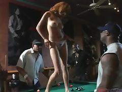 Pool Hall Gangbang For Crazy Skank