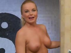Bath, Bath, Bathroom, Big Tits, Blonde, Curvy