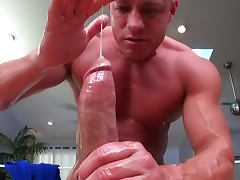 Jackson Klein is penetrating mouth of his friend