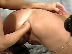 Mature anal fisting
