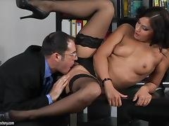 Boss, Boss, Couple, Office, Panties, Pussy