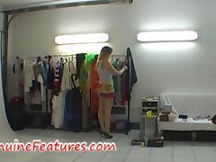 Backstage, Backroom, Backstage, Blonde, Lick, Pussy