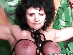 Hot sexy big boobed brunette MILF slut part3