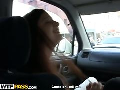 Broad Fucked In A Car Outdoors