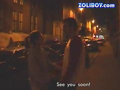 Slutty Vivien meets a guy in the street to have sex with him