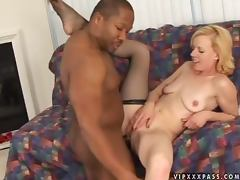 Nice Freddie Elle gets pounded in hot interracial video