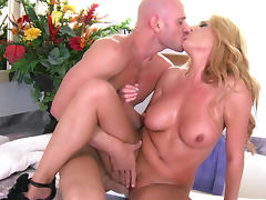Busty blonde Jennifer Best is banging with Johnny Sins