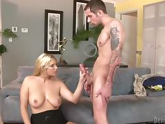 Jordan Kingsley gives a blowjob and enjoys ardent sex