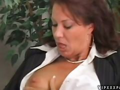 Nasty Mature Woman Gets A Mouthful Of Jizz