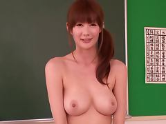 Beautiful Busty Japanese Babe Erika Kirihara Fucked by Two Cocks in Hospital