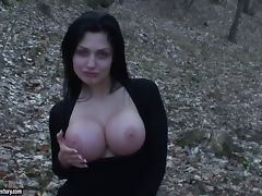 Forest fun with a smoking hot and busty Aletta Ocean porn tube video