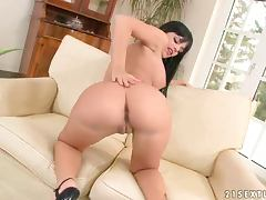 A Hot Solo With The Kinky Black Angelika porn tube video
