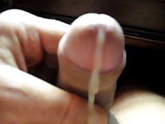 66 yr old Grandpa strokes his penis to make it cum 35
