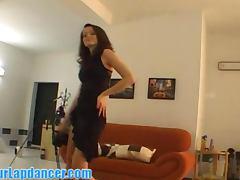 Cute and shy czech brunette lapdances tube porn video