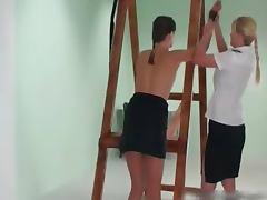 Sexy brunette Daniela gets tied