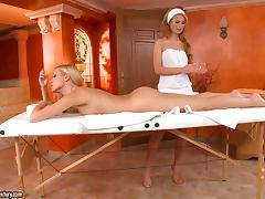 Lesbian Fun On A Massage Table With Antonya And Sophie tube porn video