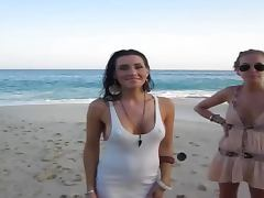 Adorable Kristy Joe shows her hot body at the beach