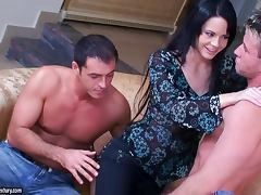 Liz Valery moans loudly while getting double penetrated Backstage vid