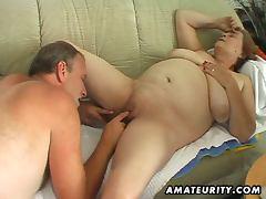 Chubby mature fucks and sucks her man