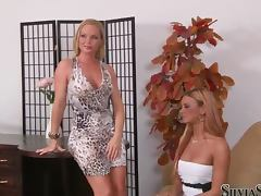 Ashley Bulgari and Silvia Saint pose naked for the camera porn tube video