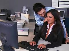 Secretary Priya Anjali Rai gets jizz of Xander Corvus tube porn video