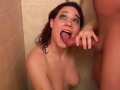 Katerina Zizkova is sucking dick and getting pee