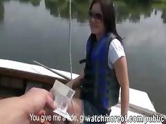 Perky tits cute honey fucked on a boat