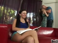 Best blowjob teacher for this babe is her mother