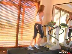 Two Dicks Getting Sporty and Kinky with Gorgeous Bailee in the Gym