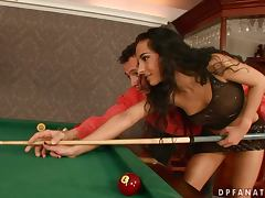 Blonde Babe Boroka Borres Fucks Her Pussy With A Billiard Cue