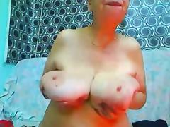 Huge and Saggy Gran on Cam tube porn video