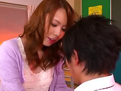 Eri Ouka riding cock in the classroom like crazy tube porn video