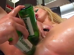 Bottle, Anal, Assfucking, Blonde, Bottle, Cum