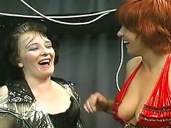 Redhead babe being humiliated in BDSM video porn tube video