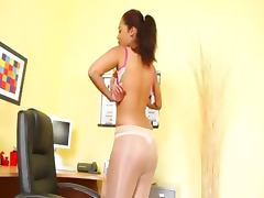 Pantyhose and exotic masturbating only tube porn video