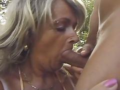 Grandma, Big Ass, Blonde, Fat, Mature, Outdoor