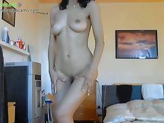 Hot latina milf stripping part 1