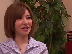 Japanese Guy in Female Lingerie Getting a Blowjob from Yuria Satomi