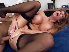 Darla Krane is getting cum of James Deen tube porn video