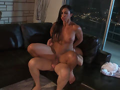 Sporty brunette Jewels Jade being drilled in her asshole tube porn video