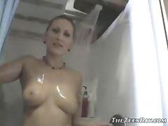Redhead Justine Joli Sexy Strip To Show Her Landing Strip