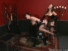 Strapon Latex Love with Busty Dominatrix Anastasia Pierce and Jean Bardot