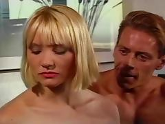 Blowjob Betty gets her mouth full on the poolside