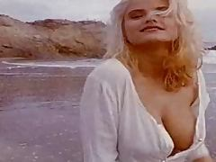 Pretty blonde Wendy Kaye has a beautiful photosession on a beach