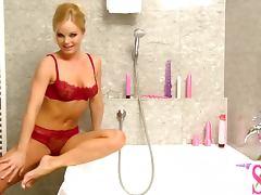 Bath, Bath, Bathroom, Big Tits, Bra, Lingerie