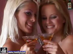 Two lusty and horny blondies are having a lot of fun