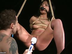 Brunette Loves Working In This BDSM Strip Club