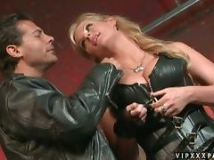 A Leather Wearing Biker Fucks Phoenix Marie Good And Hard