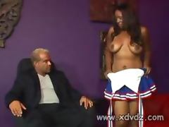 Janae Fox Begs Coach To Keep Her In Cheerleader Squad Taking Her Clothes Off And Fucking Him