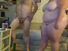 BBW Couple on cam tube porn video